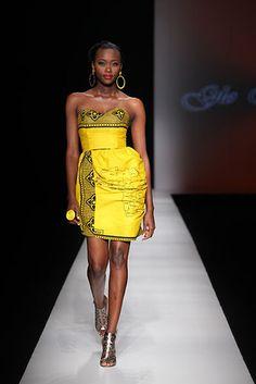 yellow leso dress: Mwoyo; Spring/Summer 2009/2010 - GloRia WavaMunno]