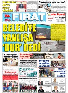 Gazete Baskımız - Elazığ Fırat Gazetesi | Elazığ Haber Elazığ Haberleri Güncel Sondakika