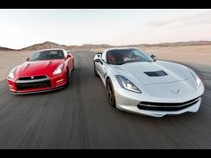 "Edmunds.com compares the Corvette Stingray and Nissan GT-R ""Track"" Edition on performance stats, 0-60/quarter mile times, braking distances, slalom runs & skip pad ratings."
