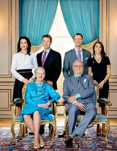 """dailyscands: """" """" New official portrait of the Royal Family released to the new website, facebook page and instagram profile. The Royal Couple along with their sons and daughters-in-law stand in the..."""