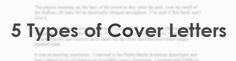 5 Types of Cover Letters - Make CV at cvtemplater.com