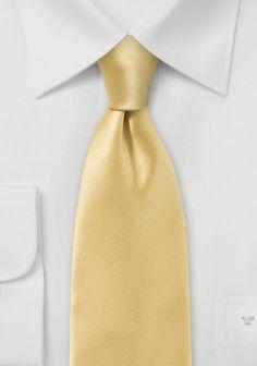 Krawatte unifarben Poly-Faser goldfarben