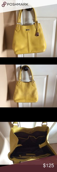 Cole Hana purse Great sunny yellow leather purse.  What a great way to get rid of the winter blues!  Fun tapered design. Cole Haan Bags Satchels
