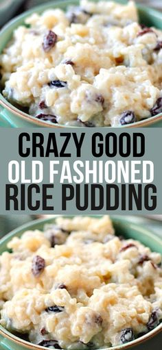 Fun Desserts, Delicious Desserts, Dessert Recipes, Yummy Food, Tasty, Dinner Recipes, Rice Pudding Recipes, Rice Puddings, Sugar Free Rice Pudding Recipe