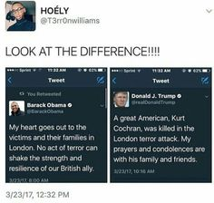 One cares about the people, and the other cares about one and where they were born. Smh.