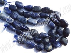 Sodalite Smooth Nuggets (Quality B) (Pack of 2 Strands) / 23 to 37 mm / 113 to 125 Grms / 36 cm / SOD-053 by GemstoneWholesaler on Etsy