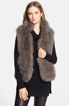 Theory 'Hanalee' Genuine Fox Fur Vest available at #Nordstrom