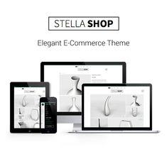 StellaShop - Elegant E-Commerce Theme by angelostudio Ecommerce, Templates, Elegant, Phone, Shopping, Classy, Stencils, Telephone, Vorlage