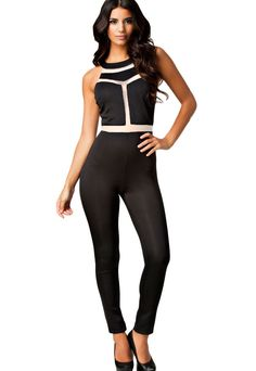 Chasubles & Grenouilleres Sexy Slim Fit Manches Club Night Jumpsuit