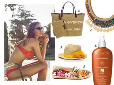 Want a ‎#goldensummer? Here are the #accesories that will make your #skin bright in bronze and golden reflections out in the sun. Which one is yours?   1. ‎#OYSHO 2. ‎#GIVENCHY. Tote bag. 3. ‎#TORYBURCH. Sombrero de rafia. 4. BIMBA & LOLA. Collar con piedras naturales. 5. MISS HAMPTONS. Alpargatas Polinesia. 6. ATACHE. Corporal Sunage 30 SPF.