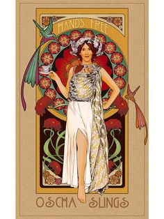 Art Print Art Nouveau Hands Free