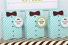 Little Man Birthday Party Bags / Giveaways / Treats / Loot bags Little Man Birthday Party Theme