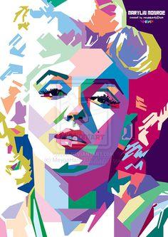 .::: Marylin Monroe in WPAP :::. by MeygaHardy   | This image first pinned to Marilyn Monroe Art board, here: http://pinterest.com/fairbanksgrafix/marilyn-monroe-art/ || #Art #MarilynMonroe