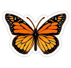 Blue Butterfly Discover Monarch Butterfly Sticker by Garaga Homemade Stickers, Diy Stickers, Printable Stickers, Clear Stickers, Tumblr Stickers, Phone Stickers, Butterfly Drawing, Butterfly Stencil, Red Bubble Stickers