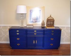 Refreshingly Chic: Furniture makeover of a campaign style dresser