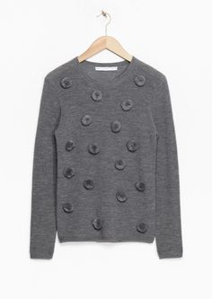 & Other Stories | Merino Wool Pom Pom Sweater