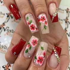 Colorful Nail Designs, Acrylic Nail Designs, Nail Art Designs, Purple Acrylic Nails, Summer Acrylic Nails, Chic Nails, Swag Nails, Cute Spring Nails, Nail Effects
