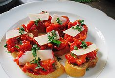 Roasted Tomato Bruschetta-make ahead of time