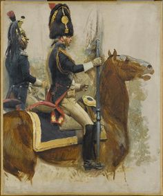 Grenadier a cheval et Dragon Edouard Detaille