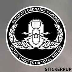 Explosive Ordnance Disposal 2-0198 StickerPup.Com Custom Stickers