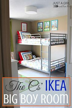An Awesome Shared Big Boy Room With TONS of Function!