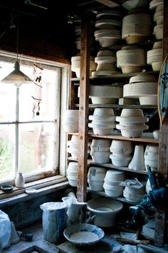 Potter - studio...I've always wanted to be able to make pottery.