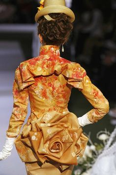 Couldn't figure out where to pin this.  Victorian Clothing, Flowers??  Christian Dior Haute Couture Autumn/Fall 2007