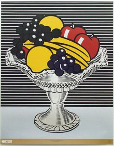 Still Life with Crystal Bowl by Roy Lichtenstein. Print from Caitlin Freeman's Inspiring Insider galleries on Art.com