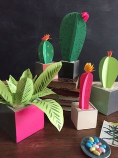 DIY Paper Plants with Astrobrights:
