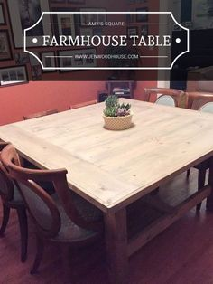 Stained and distressed farmhouse table and bench do it yourself how to build a diy square farmhouse table plans solutioingenieria Choice Image