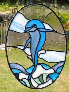 Dolphin stain glass idea