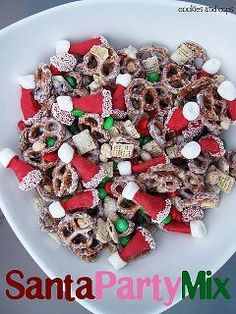 Santa Party Mix--Neighbor Gifts!