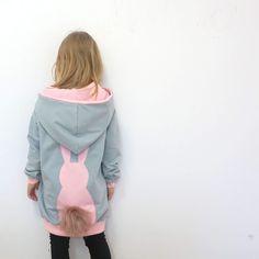 Grey & pink bunny
