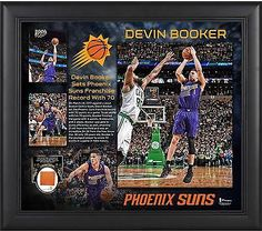 "Devin Booker Phoenix Suns Framed 15"" x 17"" 70 Point Collage with Item#4471750"