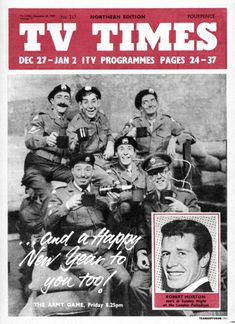 TVTimes Northern edition 27 December 1959 - 2 January The Army Game Army Games, Tv Times, 1970s Childhood, South London, Old Tv Shows, Classic Tv, Nostalgia, Memories, Vintage Stuff