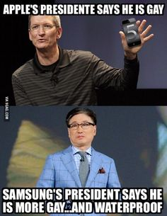 battle between Apple and Samsung :D