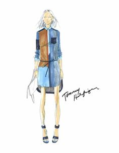 From idea to runway: see Tommy Hilfiger's sketches