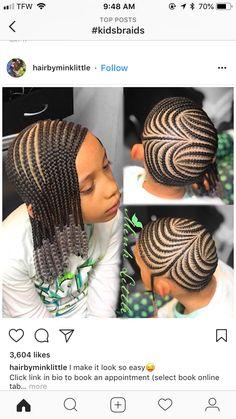 Back To School Hair Hair Kids Braided Hairstyles Braided - cornrow hairstyles for school big cornrow hairstyles Lil Girl Hairstyles, Kids Braided Hairstyles, Back To School Hairstyles, African Braids Hairstyles, My Hairstyle, Formal Hairstyles, Hairstyles 2018, Little Girl Braids, Black Girl Braids