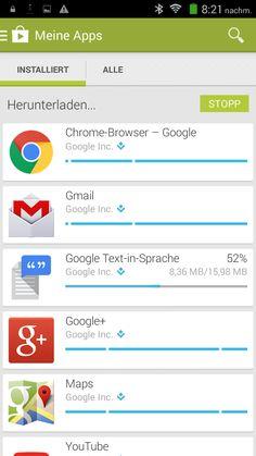 Aktualisierung der Google Apps