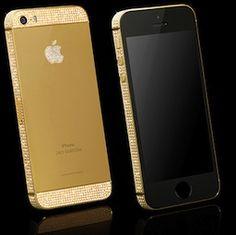 iPhone with  #24kgold and #diamonds and #swarovski