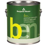 Ben Waterborne Interior Paint: Remodelista Flat finish universal black.
