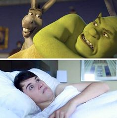 Literally no difference >>> Someone needs to photoshop Phil looking at Dan like Donkey