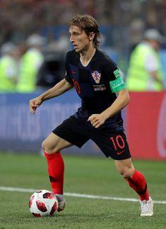 4ad985945 Luka Modric of Croatia controls the ball during the 2018 FIFA World Cup  Russia Round of 16 match between Croatia and Denmark at Nizhny Novgorod.
