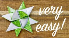 Origami Froebel Star making, easy Christmas Star tutorial - YouTube