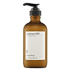 """Perricone MD Serum Prep $145  """"Prepping """"mature"""" skin with a lack of firmness is definitely a challenge. This silky serum tightens up the loosey-goosey's in a flash by infusing high levels of DMAE into the skin to firm and tone, while softening the appearance of fine lines almost immediately. It's also packed with Phospholipids to boost hydration. Firm, well moisturized skin is the best canvas for beautiful makeup applications and Serum Prep delivers."""" via inmykit.com (image via sephora.com)"""