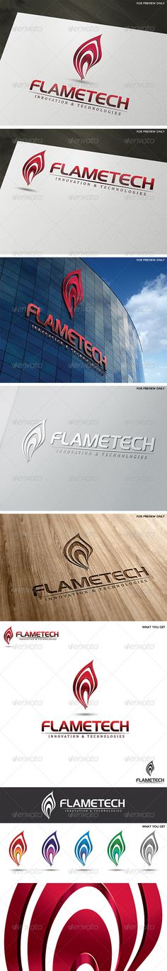 3D Fire Flame Logo Template — Vector EPS #management #creative • Available here → https://graphicriver.net/item/3d-fire-flame-logo-template/5369699?ref=pxcr