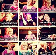 """Rebel Wilson portrays the character of Fat Amy in the movie """"Pitch Perfect"""". Movies Showing, Movies And Tv Shows, Pitch Pefect, Fat Amy, Rebel Wilson, About Time Movie, Film Music Books, Dance Moms, Movie Quotes"""