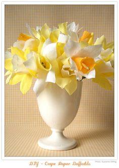 DIY - How to make Crepe Paper Daffodils