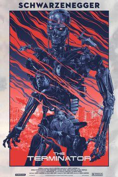 . The Terminator: Cartel de cine ilustrado por Grzegorz Domaradzki