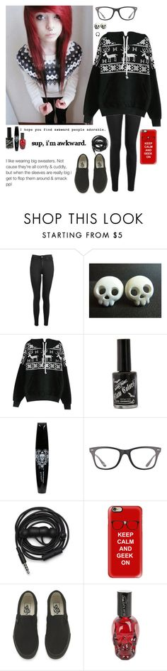 """I'm actually excited for Christmas"" by emokittyyy ❤ liked on Polyvore featuring Topshop, Ray-Ban, Urbanears, Casetify and Vans"